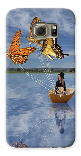 Butterfly Sailing Galaxy S6 Case by Linda Lees