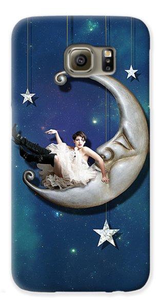 Fantasy Galaxy S6 Case - Paper Moon by Linda Lees