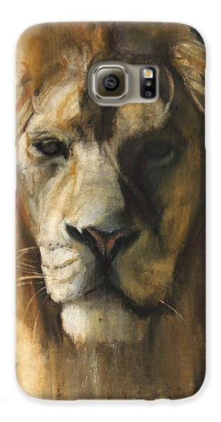 Asiatic Lion Galaxy S6 Case by Mark Adlington