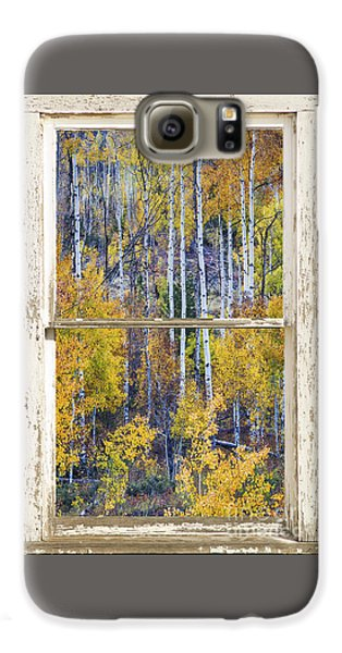 Aspen Tree Magic Cottonwood Pass White Farm House Window Art Galaxy S6 Case by James BO  Insogna