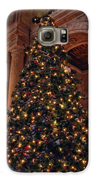 Galaxy S6 Case featuring the photograph Astor Hall Christmas by Jessica Jenney
