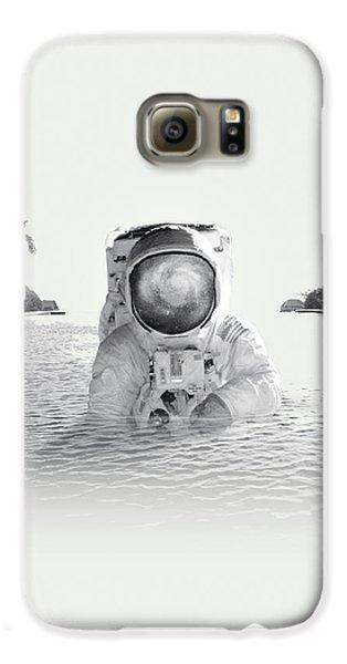 Astronaut Galaxy S6 Case by Fran Rodriguez