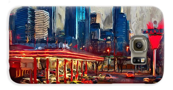 Atlanta Skyline 231 1 Galaxy S6 Case by Mawra Tahreem