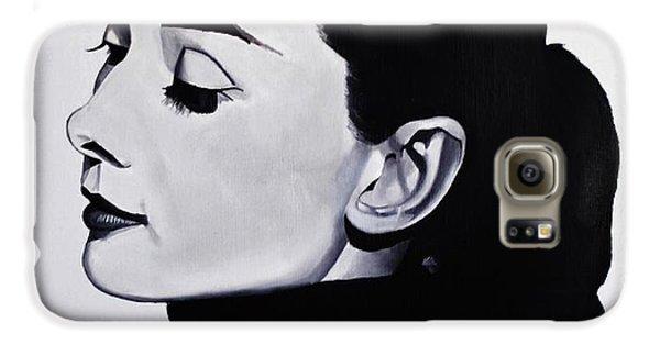 Audrey Hepburn 1 Galaxy S6 Case by Brian Broadway