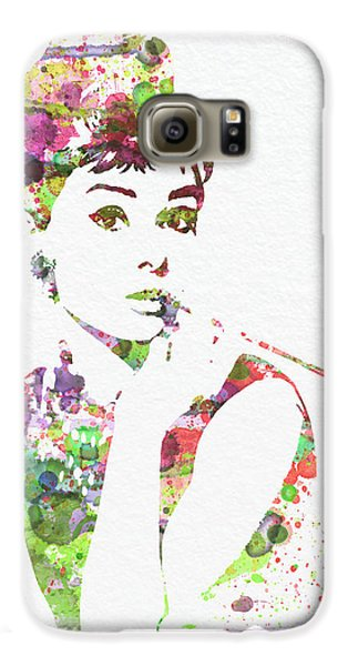 Audrey Hepburn 2 Galaxy S6 Case by Naxart Studio