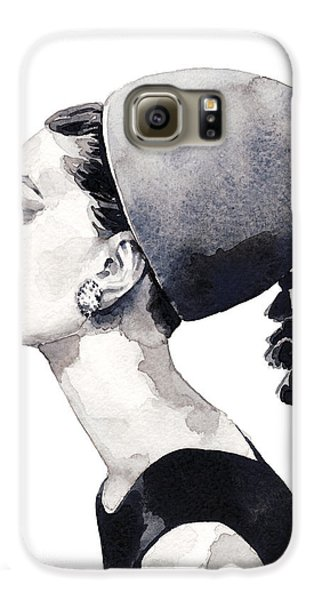 Audrey Hepburn For Vogue 1964 Couture Galaxy S6 Case by Laura Row