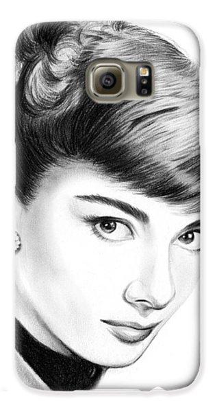 Audrey Hepburn Galaxy S6 Case by Greg Joens