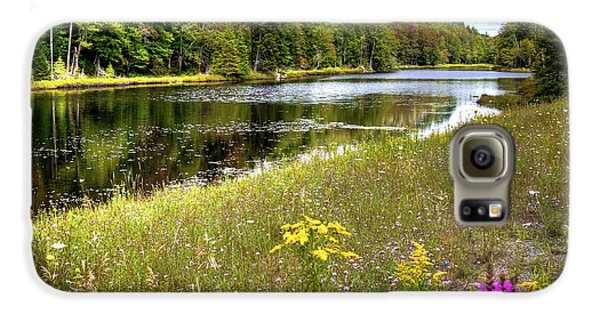 Galaxy S6 Case featuring the photograph August Flowers On The Pond by David Patterson