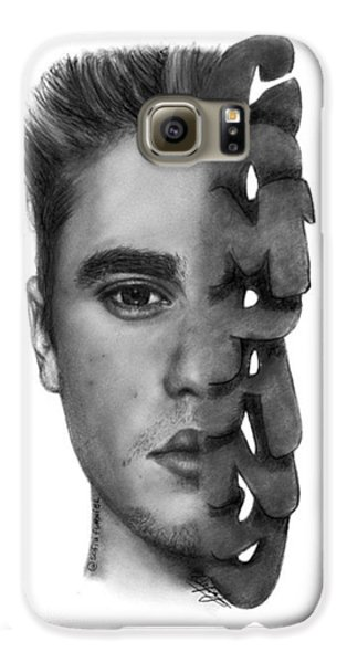 Justin Bieber Drawing By Sofia Furniel Galaxy S6 Case