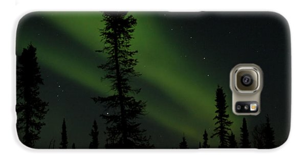 Aurora Borealis The Northern Lights Interior Alaska Galaxy S6 Case