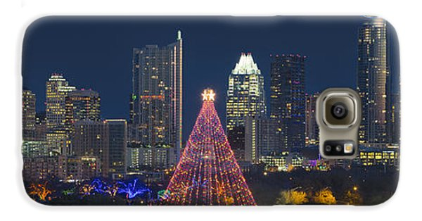 Austin Panorama Of The Trail Of Lights And Skyline Galaxy S6 Case