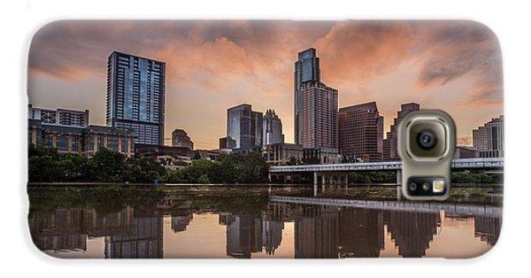 Austin Skyline Sunrise Reflection Galaxy S6 Case