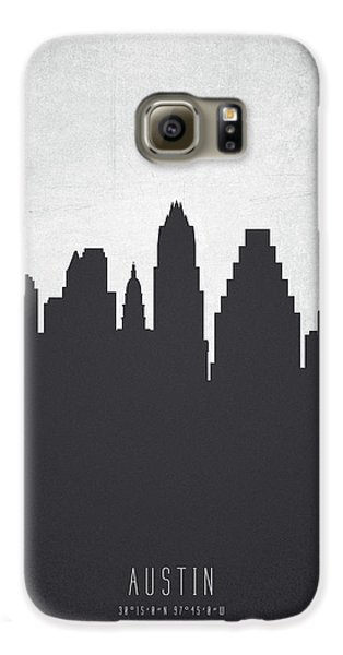 Austin Texas Cityscape 19 Galaxy S6 Case by Aged Pixel