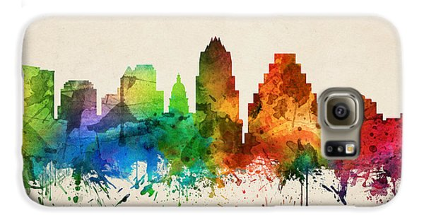 Austin Texas Skyline 05 Galaxy S6 Case by Aged Pixel