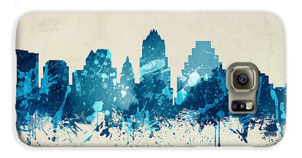 Austin Texas Skyline 20 Galaxy S6 Case by Aged Pixel
