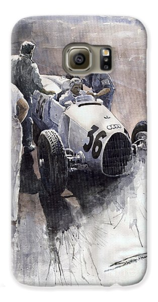 Sports Galaxy S6 Case - Auto Union B Type 1935 Italian Gp Monza B Rosermeyer by Yuriy Shevchuk