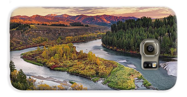 Mountain Sunset Galaxy S6 Case - Autumn Along The Snake River by Leland D Howard
