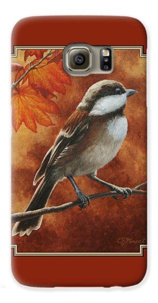 Chickadee Galaxy S6 Case - Autumn Chickadee by Crista Forest