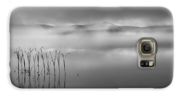 Galaxy S6 Case featuring the photograph Autumn Fog Black And White by Bill Wakeley