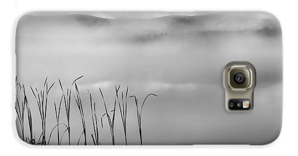 Galaxy S6 Case featuring the photograph Autumn Fog Black And White Square by Bill Wakeley