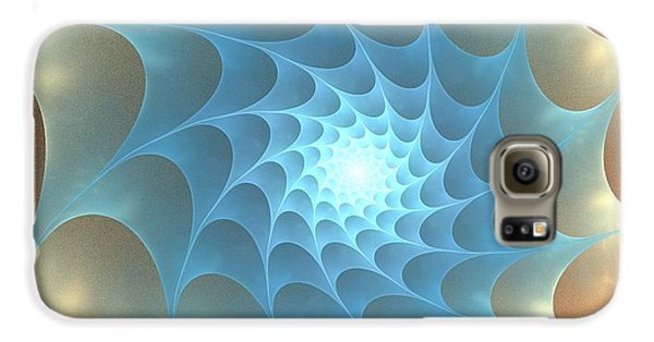 Galaxy S6 Case featuring the digital art Autumn Web by Anastasiya Malakhova