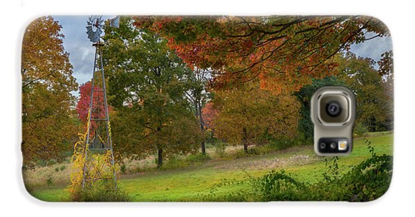 Galaxy S6 Case featuring the photograph Autumn Windmill by Bill Wakeley