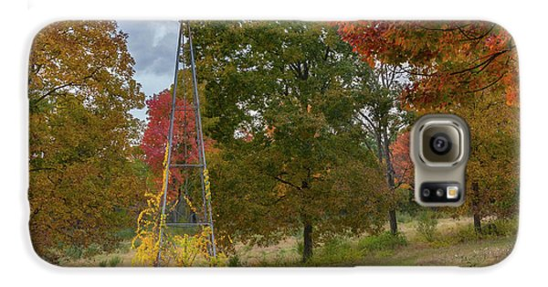 Galaxy S6 Case featuring the photograph Autumn Windmill Square by Bill Wakeley