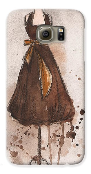 Autumn's Gold Vintage Dress Galaxy S6 Case by Lauren Maurer