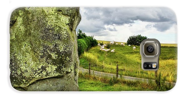 Avebury Standing Stone And Sheep Galaxy S6 Case