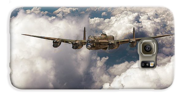 Galaxy S6 Case featuring the photograph Avro Lancaster Above Clouds by Gary Eason