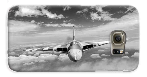 Galaxy S6 Case featuring the digital art Avro Vulcan Head On Above Clouds by Gary Eason
