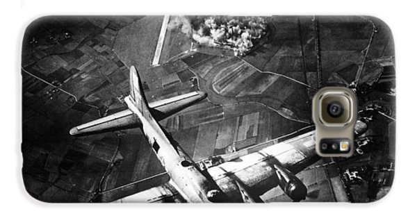 Airplanes Galaxy S6 Case - B-17 Bomber Over Germany  by War Is Hell Store