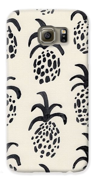 B And W Pineapple Print Galaxy S6 Case by Anne Seay