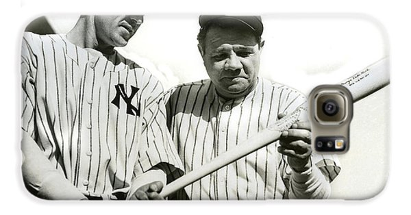 Babe Ruth And Lou Gehrig Galaxy S6 Case by Jon Neidert