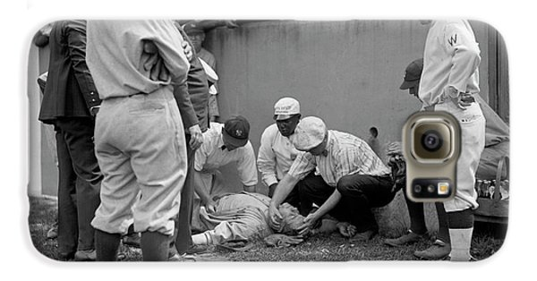 Babe Ruth Knocked Out By A Wild Pitch Galaxy S6 Case