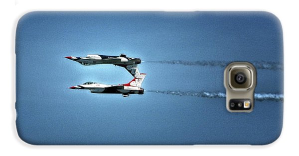 Galaxy S6 Case featuring the photograph Back To Back Thunderbirds Over The Beach by Bill Swartwout Fine Art Photography