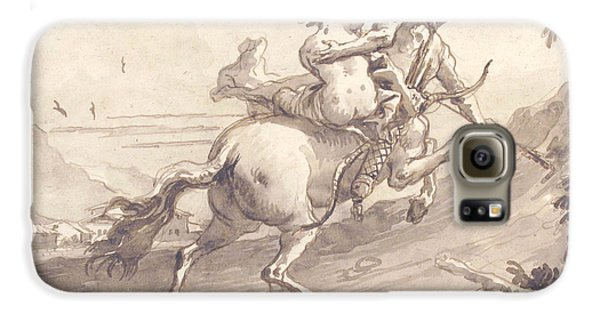 Centaur Galaxy S6 Case - Back View Of A Centaur Abducting A Satyress by Giovanni Domenico Tiepolo