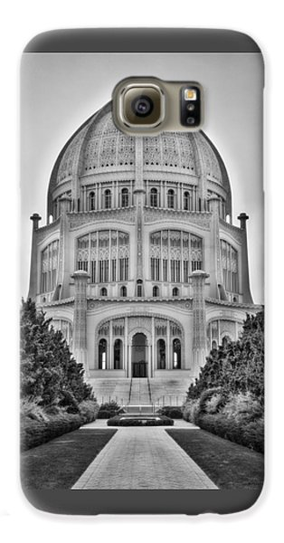 Baha'i Temple - Wilmette - Illinois - Vertical Black And White Galaxy S6 Case