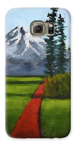 Galaxy S6 Case featuring the painting Baker Meadow by Nancy Merkle
