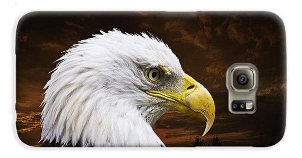 Bald Eagle - Freedom And Hope - Artist Cris Hayes Galaxy S6 Case by Cris Hayes