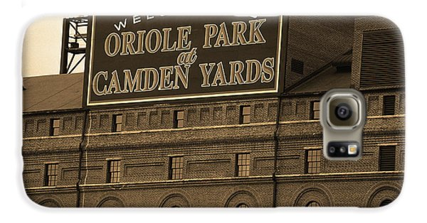 Oriole Galaxy S6 Case - Baltimore Orioles Park At Camden Yards Sepia by Frank Romeo