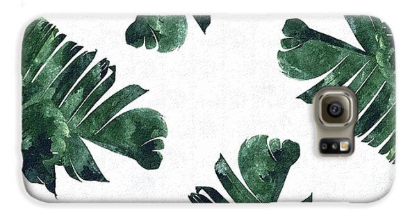 Banan Leaf Watercolor Galaxy S6 Case by Uma Gokhale