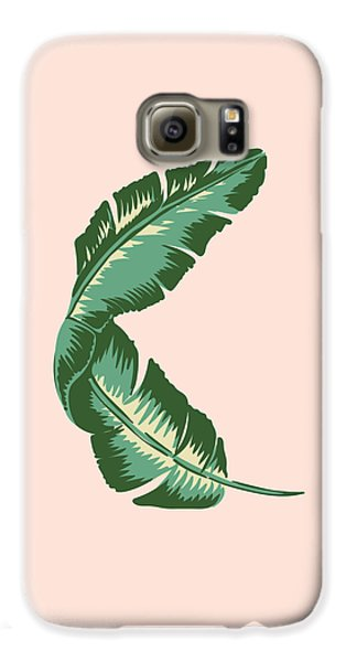 Banana Leaf Square Print Galaxy S6 Case by Lauren Amelia Hughes