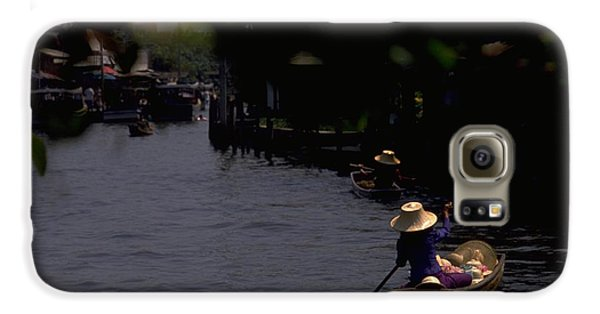Bangkok Floating Market Galaxy S6 Case by Travel Pics