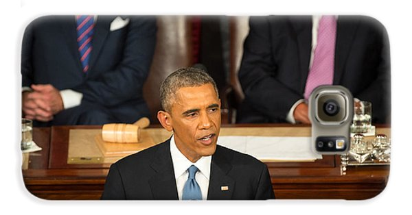 Barack Obama 2015 Sotu Address Galaxy S6 Case by Science Source