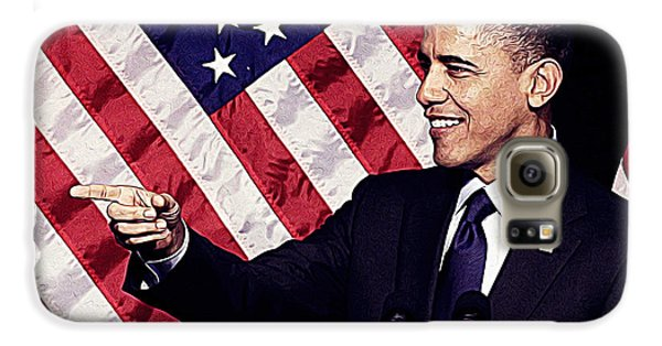 Barack Obama Galaxy S6 Case by Iguanna Espinosa