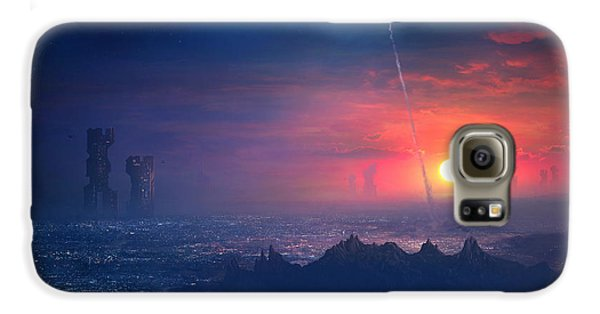 Barcelona Smoke And Neons Montserrat Galaxy S6 Case by Guillem H Pongiluppi