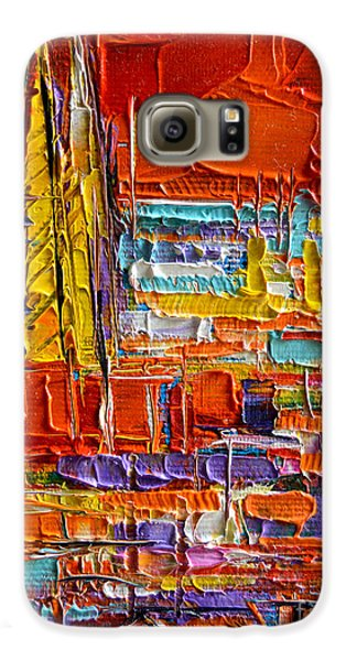 Barcelona View From Parc Guell - Abstract Miniature Galaxy S6 Case