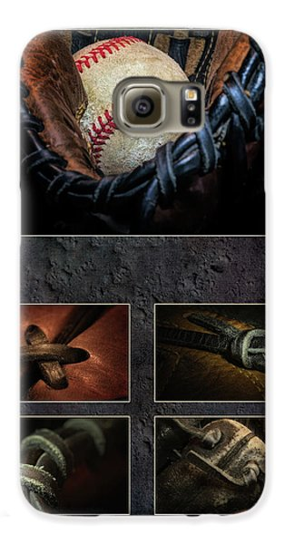 Baseball Gloves Galaxy S6 Case - Baseball Collage I by Tom Mc Nemar