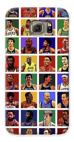 Larry Bird Galaxy S6 Case - Basketball Legends by Semih Yurdabak